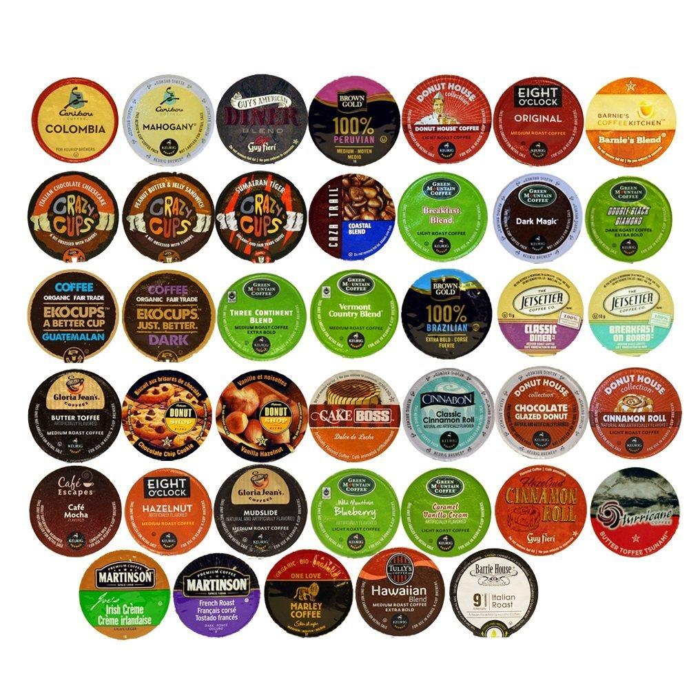 40 Count Coffee Variety Sampler Pack For Keurig K-Cup